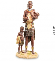 WS-728 Статуэтка  Африканка с детьми