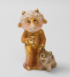 16149 Фигурка гипсовая  Овечка-Леди  зол.