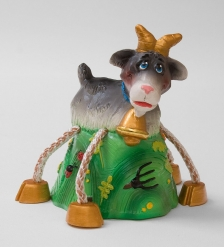 16157 Копилка гипсовая  Коза  цв.