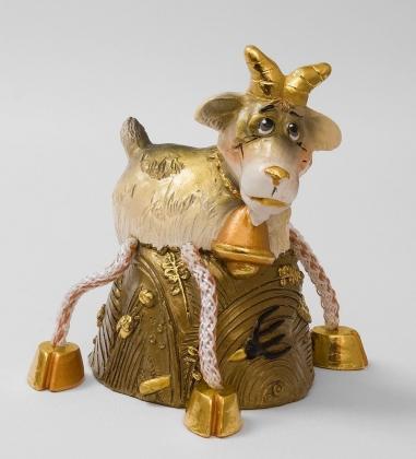 16158 Копилка гипсовая «Коза» зол.
