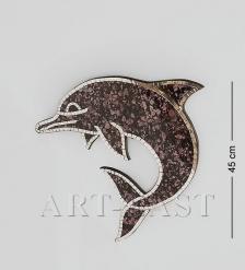 38-005 Панно  Дельфин  мал.  мозаика, о.Бали