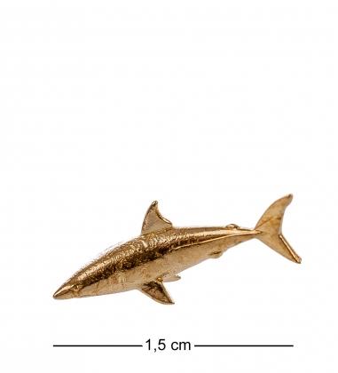 AM- 159 Фигурка кошельковая  Акула   латунь