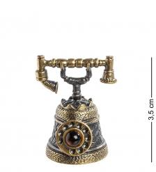 AM- 578 Фигурка  Телефон-колокольчик   латунь, янтарь