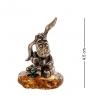 AM- 493 Фигурка Ослик-Иа сидящий  латунь, янтарь