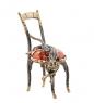 AM- 365 Фигурка  Кот на стуле   латунь, янтарь
