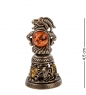 Фотография AM- 346 Фигурка  Колокольчик-Козел   латунь, янтарь №1
