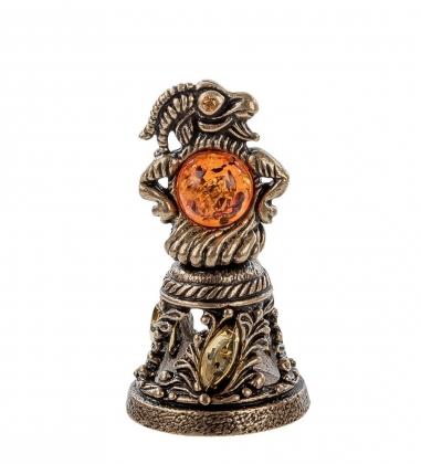 Первая фотография AM- 346 Фигурка  Колокольчик-Козел   латунь, янтарь