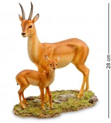 WS-774 Статуэтка  Газель с детенышем