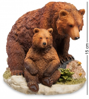 WS-776 Статуэтка Бурый медведь с детенышем