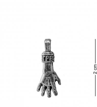 AM- 141 Подвеска  Рука загребушка   олово, латунь