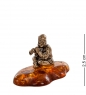 AM- 544 Фигурка  Скоморох   латунь, янтарь