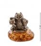 AM- 371 Фигурка  Кот-Водолей   латунь, янтарь