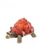 AM- 605 Фигурка  Черепаха сухопутная   латунь, янтарь