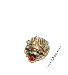 AM- 175 Фигурка кошельковая  Скарабей    латунь, янтарь
