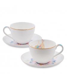 JK- 95 Чайный набор на 2 перс. «Песня Мотылька»  Canzone Falena Pavone