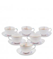 JK- 97 Чайный набор на 6 перс.  Песня Мотылька   Canzone Falena Pavone