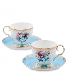 JK-128 Чайный набор на 2 перс.  Цветок Неаполя   Fiore Napoli Pavone