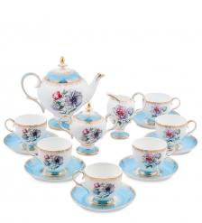 JK-131 Чайный сервиз 15 пр. на 6 перс.  Цветок Неаполя   Fiore Napoli Pavone