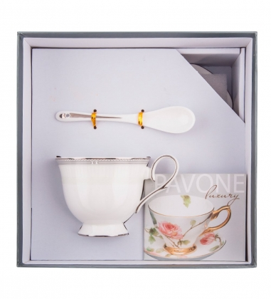 JK-109 Чайная пара Венецианская Классика  Venice Classic Pavone