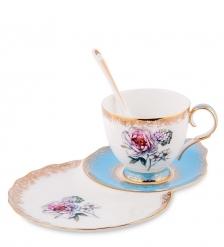 JK-133 Чайная пара  Цветок Неаполя   Fiore Napoli Pavone