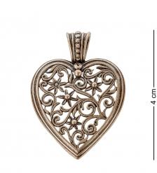 AM- 142 Подвеска  Сердце   латунь