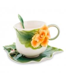 FM-82/ 2 Чайная пара  Лягушки и цветы канны   Pavone