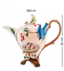 FM-80/ 1 Заварочный чайник  Голубые птицы   Pavone