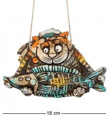 KK-280 Панно Кот Рыбалка шамот