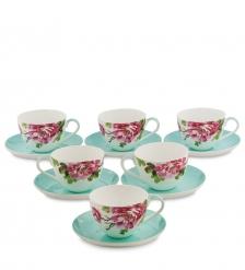 JK-184 Чайный набор на 6 перс.  Тоскана   Toscana Pavone