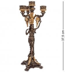 WS-689/ 2 Канделябр в древнеримском стиле «Девушка»