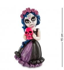 WS-398 Статуэтка в стиле Фэнтези  Девочка с черепом