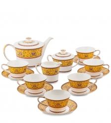 JK-178 Чайный сервиз 15 пр. на 6 перс.  Арабески   Arabesca Yellow Pavone