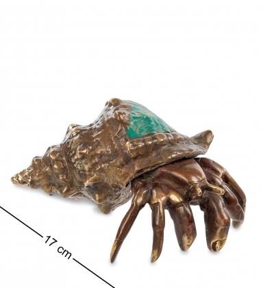 43-123-01 Фигурка  Краб в ракушке   бронза, о.Бали