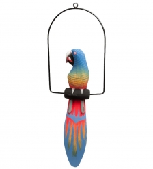 90-070 Статуэтка  Попугай на жердочке  50 см