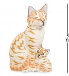 89-013 Фигурка  Кошка с котенком   о.Бали