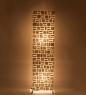 34-019 Светильник из перламутра Башня 120см