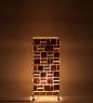 34-022 Светильник из перламутра «Башня» 50см