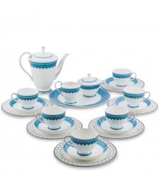 JK-192 Чайный сервиз 22 пр. на 6 перс.  Византия   Band-E-Rumi Pavone