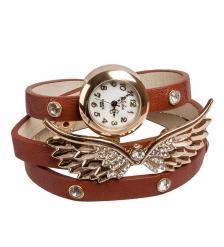 Y-CH036 Браслет-часы  Крылья Ангела  коричн