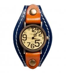 Y-CH050 Браслет-часы  Классика  синий/коричн