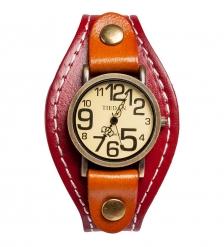 Y-CH051 Браслет-часы  Классика  красн/коричн