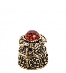 AM- 638 Наперсток  Цветок   латунь, янтарь