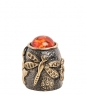 AM- 640 Наперсток  Бабочка   латунь, янтарь