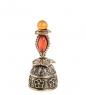 Фотография AM- 645 Фигурка  Колокольчик-цветок   латунь, янтарь №1