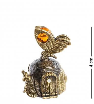 Первая фотография AM- 647 Фигурка  Колокольчик-улитка   латунь, янтарь