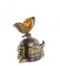 Фотография AM- 647 Фигурка  Колокольчик-улитка   латунь, янтарь №2