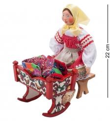 RK-913 Кукла  Настя с колыбелькой