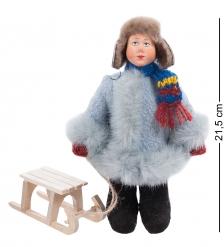 RK-916 Кукла  Степа с санками