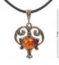 AM- 673 Подвеска  Знак зодиака-Водолей   латунь, янтарь