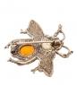 AM- 689 Брошь  Пчелка   латунь, янтарь